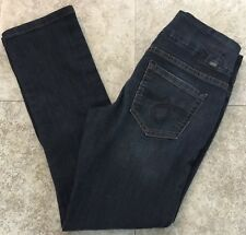 JAG Jeans High Rise Slim Leg Pull On Jeans size 6 Dark Wash