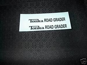 TONKA TRUCK  ROAD GRADER   DECAL SET NEW LOGO