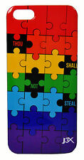 """CHRISTIAN IPHONE 4/4S SLIM CASE, """"PUZZLE"""" MESSAGE W/ SCREEN PROTECTOR"""