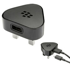 GENUINE BLACKBERRY 9700 BOLD 9780 BOLD MAINS CHARGER WALL ADAPTER + MICRO CABLE