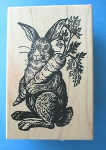 PSX GARDEN BUNNY Rubber Stamp G-1047 CARROT Rabbit EASTER