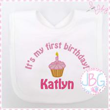 PERSONALISED BABY 1ST BIRTHDAY BIB NUMBER 1 AND ANIMALS DESIGN L@@K!!!!