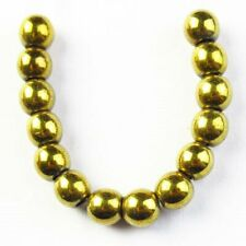 14Pcs/Set 6mm Gold Hematite Ball Pendant Bead S11292