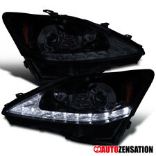 06-09 Lexus IS250 IS350 Glossy Black SMD LED DRL+Signal Projector Headlights