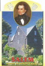 Postcard Massachusetts Salem House of Seven Gables Hawthorne Die Cut Mint