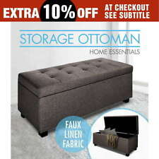 Polyester Unbranded Brown Ottomans, Footstools & Poufs