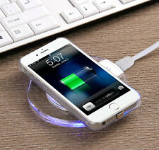 Qi Slim Wireless Charging Pad Charger for Samsung Edge S7 Galaxy S6 Note 5/6/7
