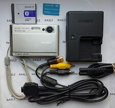 SONY Cyber-Shot DSC-T70 8.1 MP Fotocamera Digitale-Argento + 512 MB MEMORY STICK