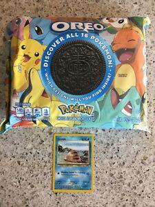 NEW Nabisco Oreo Pokemon Chocolate Sandwich Cookies FREE SHIPPING FREE CARD GIFT