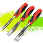"""1"""" 1/3"""" 1/4""""Heat-treated Steel 25 Degree Straight Beveled Blades Wood Chisel Set"""