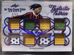 Ronaldinho 2019 Leaf In the Game Used Fantastic Fabrics 2/12 Brazil Barcelona