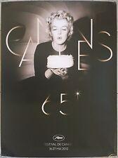 65ème FESTIVAL DE CANNES 2012 Marilyn Monroe 60x80cm Original Roulée TBE