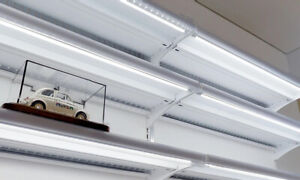 Shop Shelving LED Lighting - 10 shelves Complete Kit for 2 wall units 100cm wide