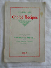 Montclair NJ New Jersey First Baptist Church Cookbook Caldwell Advertising 1909