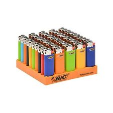 Bic Classic Mini Lighter, Assorted Colors, 50-Count Tray J25 Disposable