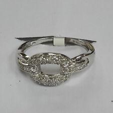 Genuine Diamond Chain Link Ring