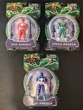 2010 Mighty Morphin Power Rangers 4 in Red Green Blue Ranger Figures Set NIB