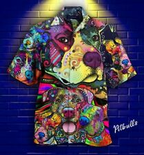 PITBULL HAWAII BUTTON SHIRT Unisex Hawaiian Shirt