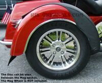 Harley Davidson Tri-Glide Trike Mirror Polished SS Wheel Disc SET 2009-2020 USA