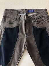 JECKERSON Pantalone Jeans Marrone Alcantara Blu Uomo Taglia 31