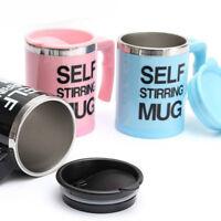 Auto Mixing coffee cup Stainless Electric Lazy Self Stirring Mug Tea Mug (Pink)