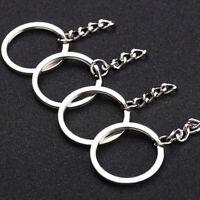 Split Rings 25mm Keyring Hook Loop Schlüsselanhänger Metallkette Keyring Ho P2A6