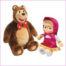 MASHA AND THE BEAR TWO TALKING TOYS TOY TALKING MISHKA 30cm + TALKING MASHA 30cm