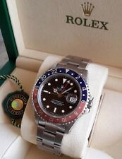 "ROLEX GMT MASTER II REF. 16710 ""FADED PEPSI"" VON 1991 + BOX"