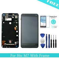 For HTC One M7 LCD Display Touch Screen Digitizer Assembly Replace Black +Frame
