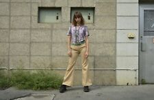 Schlaghose Damenhose beige Baumwollmischung 70er TRUE VINTAGE 70s women's pants