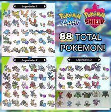 All Shiny Legendary Pokemon 6IV Battle Ready for Pokemon Sword and Shield FAST