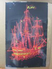 Vintage Black Light Poster  Peace ship I 1971 Inv#G596