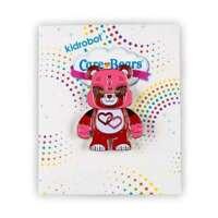 LOVE-A-LOT BEAR - KIDROBOT CARE BEAR SERIES ENAMEL PIN FIGURE 1/20 (RARE) TA880
