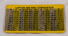 VINTAGE LIPTON TEA METRIC CONVERTER - DOUBLE IMAGE - LENTICULAR PRINTING