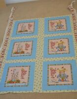 Mary Engelbreit Fabric Large Piece 6 Panels Friends are flowers in garden life