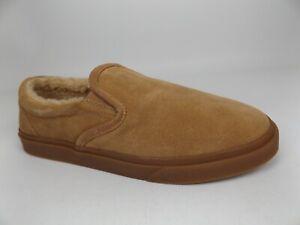 Minnetonka Men's Alden Slip-on Slippers Size 12.0 M, Color Cinnamon Suede, 21514