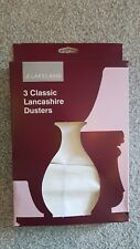 Lakeland Lancashire Classic White Dusters.  Pack With 2 Brand New Unused Dusters