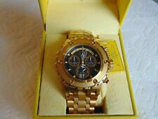 "Invicta Reserve 52mm Subaqua ""Swiss"" Chronograph 18K Ion-Plated Gold SS Watch"