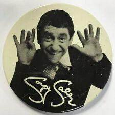 "Vintage Soupy Sales Black & White Pinback Button 3"" Diameter"