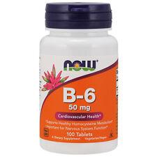 Vitamin B-6, 50mg x 100 Tablets - NOW Foods