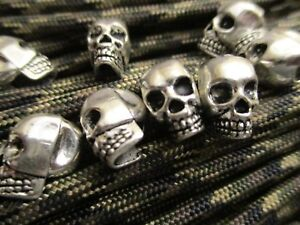 10 Bead Perlen Skull Totenkopf  für Dreadlock Rocker Devil Biker Haar Bartperle