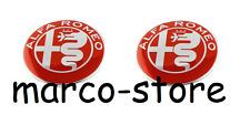 Coppia Logo Stemma Fregio ALFA ROMEO MITO GIULIETTA 147 159 156 BRERA GT 74mm