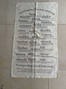 New Collector's Tea Towel Celebration Of The Scots Language