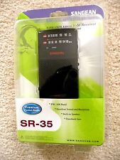 Sangean Sr-35 Am/Fm Analog Pocket Radio New