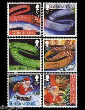 Christmas set of 6 mnh stamps 1999 Gibraltar New Year's Greetings #822-7