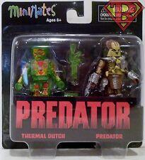 "THERMAL DUTCH & CLASSIC PREDATOR Predator Minimates 2"" inch Figures 2-pk 2016"