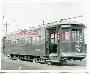 1B951 RP 1920/40s? CAMBRIDGE WAVERLY HURON AVENUE STREETCAR #5514 BOSTON