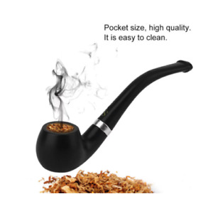 Mini Shisha Pipe-Bakelite Cigarette Elegant Tobacco-Black Durable Smoking Pipe29