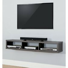 Wall Mounted Soundbar Shelf TV Console Floating Component Storage Stand Bookcase