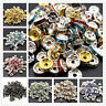 Wholesale 100pcs 8MM Metal Silver Plated Crystal Rhinestone Rondelle Spacer Bead